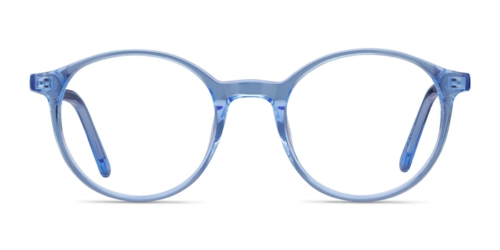 Excel Blue Acetate Eyeglass Frames from EyeBuyDirect
