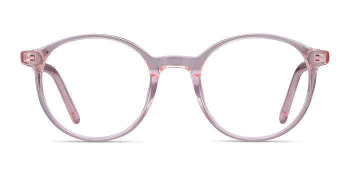 Excel Pink Acetate Eyeglass Frames from EyeBuyDirect