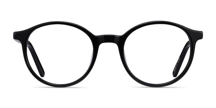 Excel Black Acetate Eyeglass Frames from EyeBuyDirect
