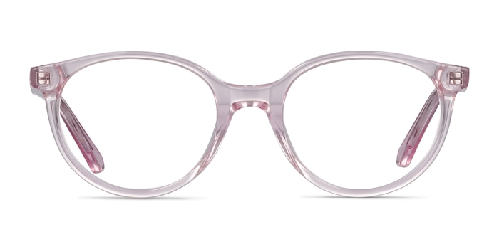 Trust Clear Pink Acetate Eyeglass Frames from EyeBuyDirect