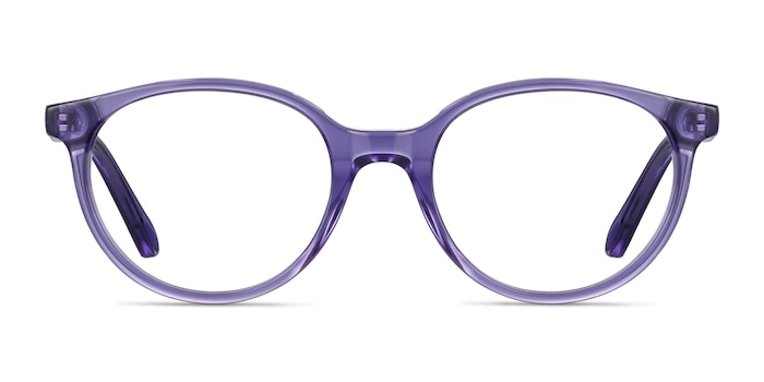 Trust Clear Purple Acetate Eyeglass Frames from EyeBuyDirect
