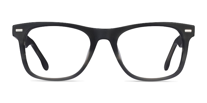 Caster Gray Striped Acetate Eyeglass Frames from EyeBuyDirect