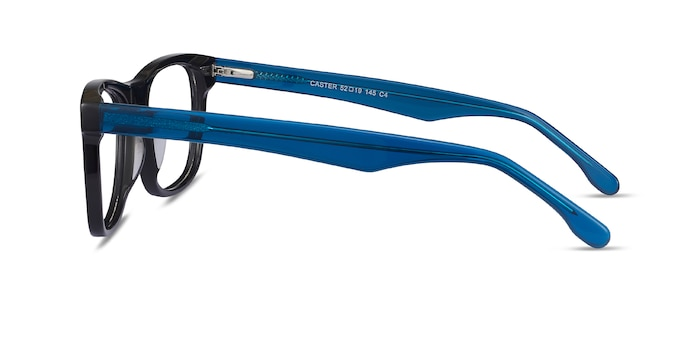 Caster Black Acetate Eyeglass Frames from EyeBuyDirect