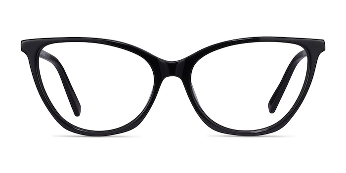 Instinct Black Acetate Eyeglass Frames from EyeBuyDirect
