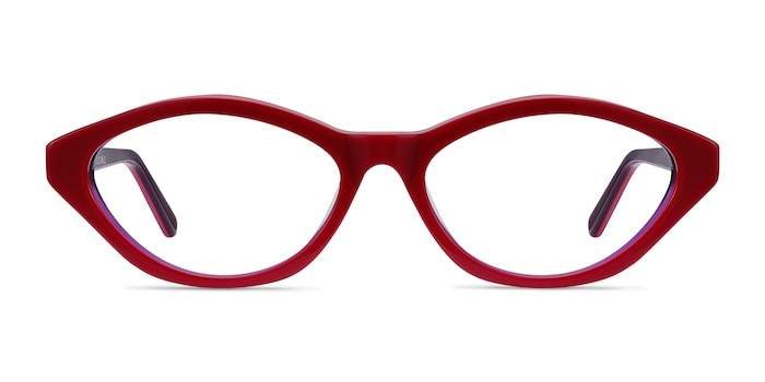 Passion Raspberry & Purple Acetate Eyeglass Frames from EyeBuyDirect
