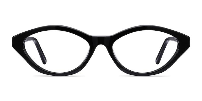 Passion Black Acetate Eyeglass Frames from EyeBuyDirect