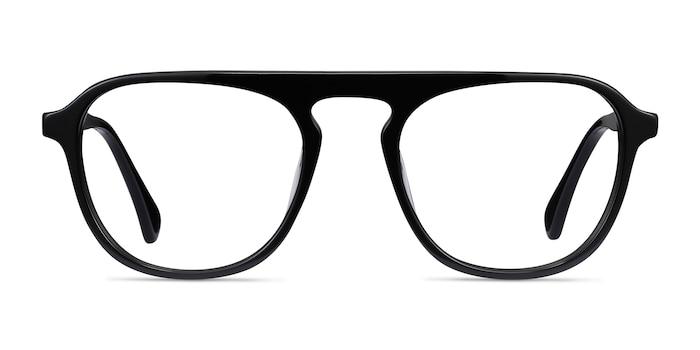 Ida Black Acetate Eyeglass Frames from EyeBuyDirect