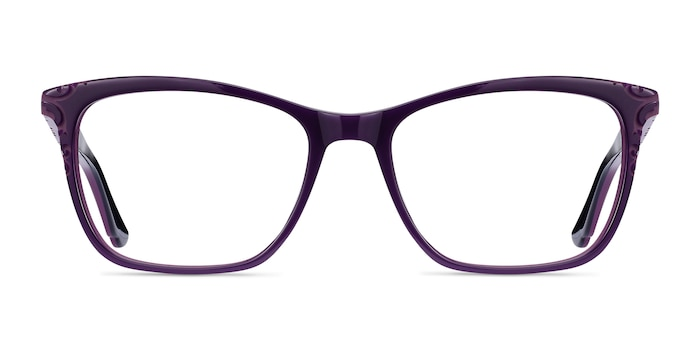 Hedera Purple Acetate Eyeglass Frames from EyeBuyDirect