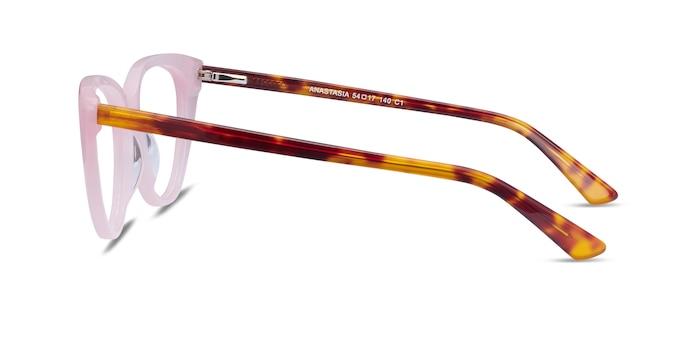 Anastasia Iridescent Pink & Tortoise Acetate Eyeglass Frames from EyeBuyDirect