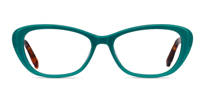 Selina Teal & Tortoise Acetate Eyeglass Frames from EyeBuyDirect