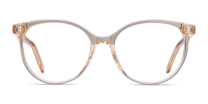 Nala Clear Melon Acetate Eyeglass Frames from EyeBuyDirect