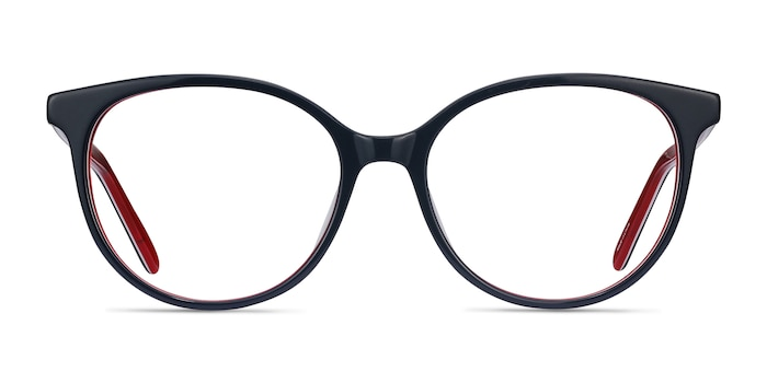 Patriot Navy & Red Acetate Eyeglass Frames from EyeBuyDirect