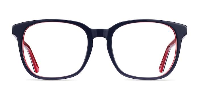 Firework Navy & Red Acetate Eyeglass Frames from EyeBuyDirect