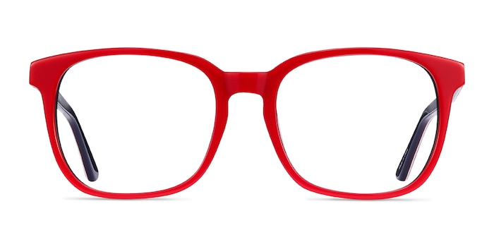 Firework Red & Navy Acetate Eyeglass Frames from EyeBuyDirect