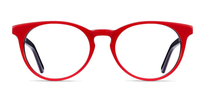 Tradition Red & Navy Acétate Montures de Lunette de vue d'EyeBuyDirect