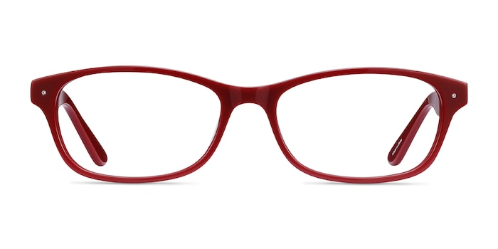 Kedah Burgundy Acetate Eyeglass Frames from EyeBuyDirect