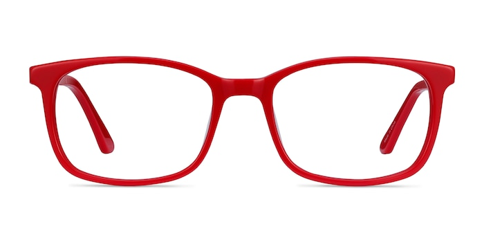 Equality Red Acetate Eyeglass Frames from EyeBuyDirect