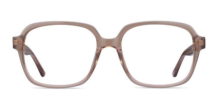 Tompkins Clear Brown Acetate Eyeglass Frames from EyeBuyDirect