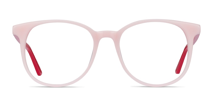 Solveig Pink & Red Acetate Eyeglass Frames from EyeBuyDirect