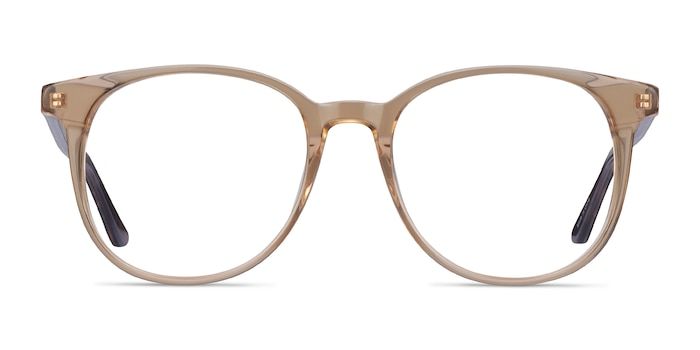 Solveig Clear Brown Acetate Eyeglass Frames from EyeBuyDirect