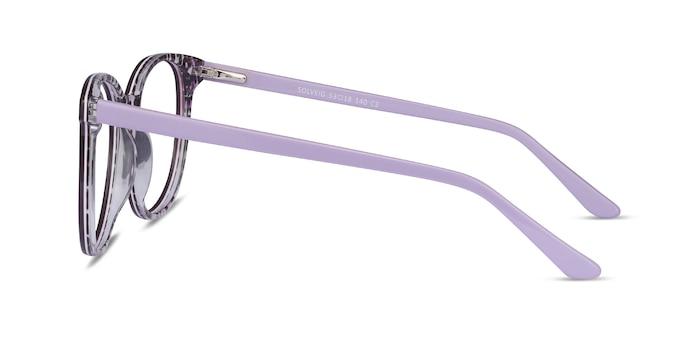 Solveig Violet Acétate Montures de Lunette de vue d'EyeBuyDirect