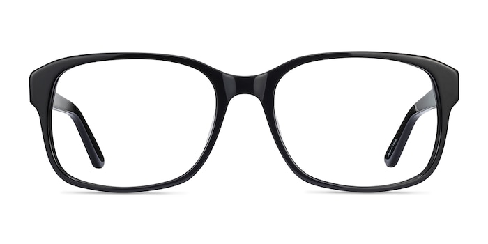 Tobias Black Acetate Eyeglass Frames from EyeBuyDirect