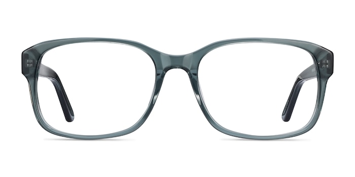 Tobias Clear Gray Acetate Eyeglass Frames from EyeBuyDirect