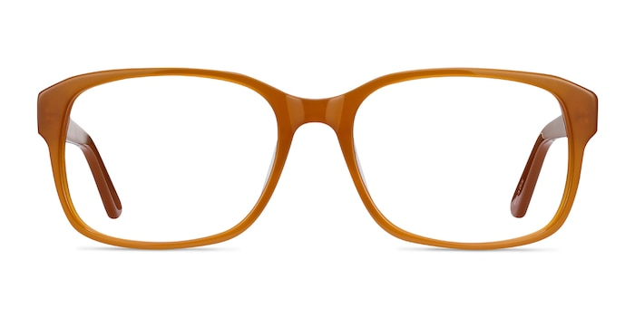 Tobias Mellow Yellow Acetate Eyeglass Frames from EyeBuyDirect