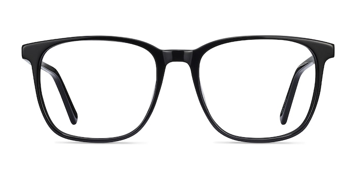 Finn Black Acetate Eyeglass Frames from EyeBuyDirect