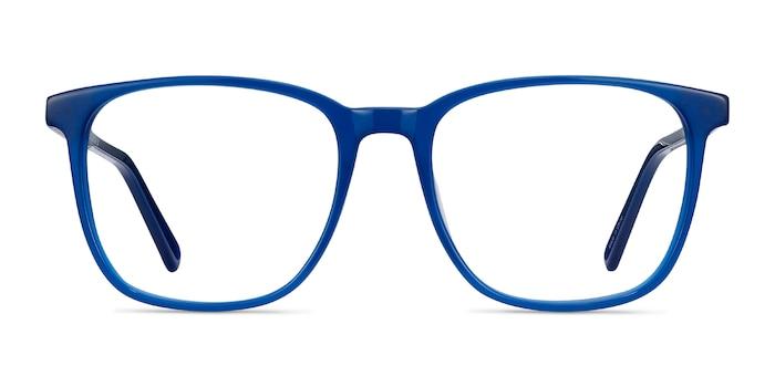 Finn Blue Acetate Eyeglass Frames from EyeBuyDirect