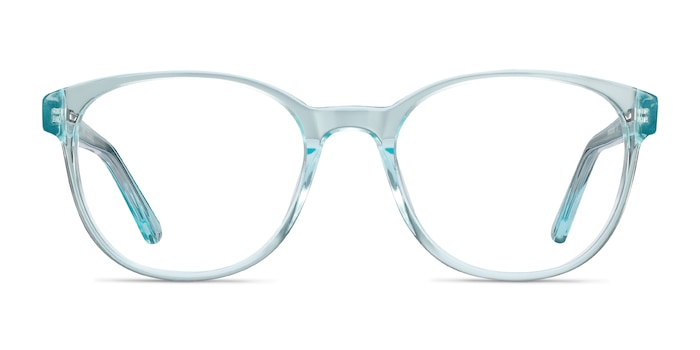 Gable Clear Blue Acetate Eyeglass Frames from EyeBuyDirect