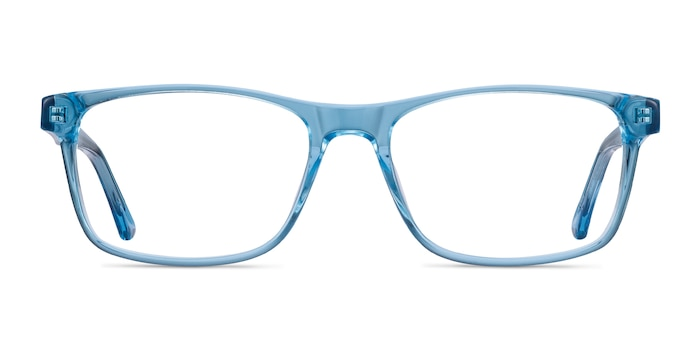 Pochi Blue Acetate Eyeglass Frames from EyeBuyDirect