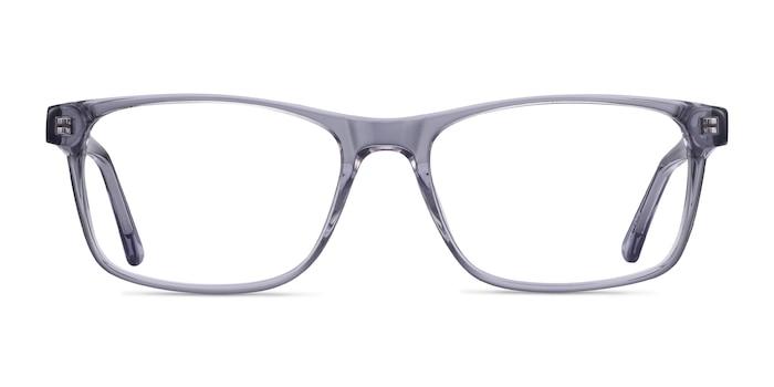 Pochi Gray Acetate Eyeglass Frames from EyeBuyDirect