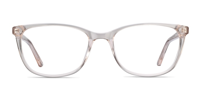 Lena Clear Beige Acetate Eyeglass Frames from EyeBuyDirect