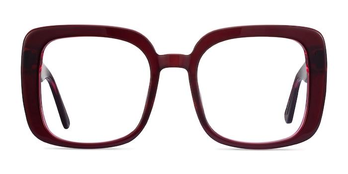 Heather Burgundy Acetate Eyeglass Frames from EyeBuyDirect