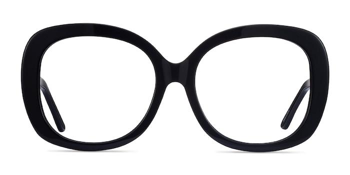 Pamela Black Acetate Eyeglass Frames from EyeBuyDirect