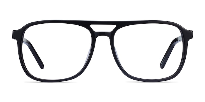 Russell Black Acetate Eyeglass Frames from EyeBuyDirect