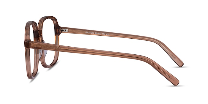 Gaston Clear Brown Acetate Eyeglass Frames from EyeBuyDirect