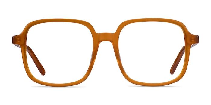 Gaston Mellow Yellow Acetate Eyeglass Frames from EyeBuyDirect