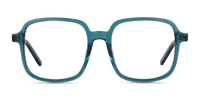 Gaston Teal Acetate Eyeglass Frames from EyeBuyDirect