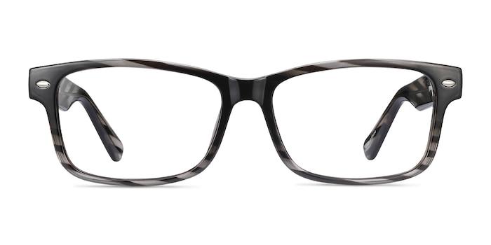 Persisto Black Striped Plastique Montures de Lunette de vue d'EyeBuyDirect