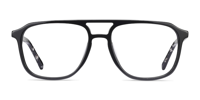 Effect Black Acetate Eyeglass Frames from EyeBuyDirect