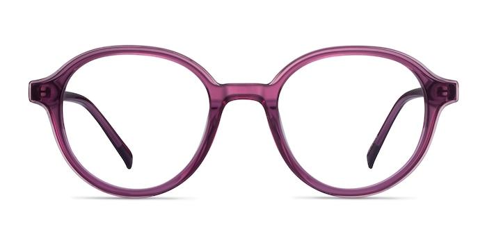 Satisfy Cassis Acetate Eyeglass Frames from EyeBuyDirect
