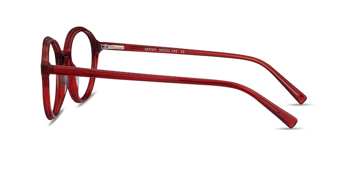 Satisfy Clear Red Acétate Montures de Lunette de vue d'EyeBuyDirect