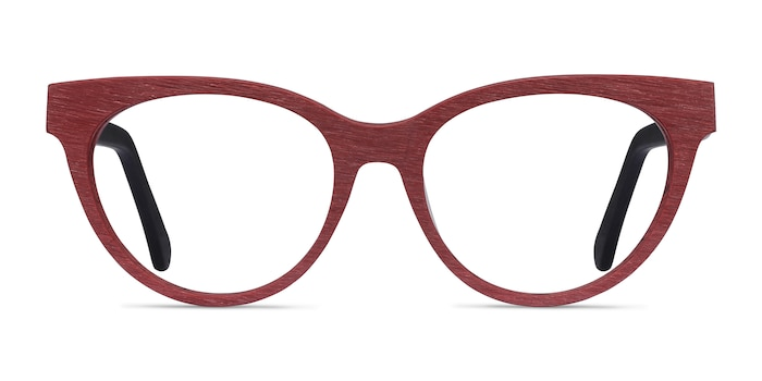 Paula Berry Red Acetate Eyeglass Frames from EyeBuyDirect