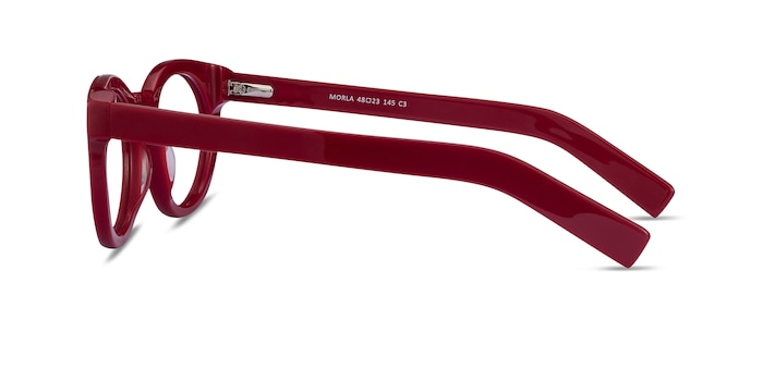 Morla Burgundy Acetate Eyeglass Frames from EyeBuyDirect