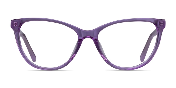 Sing Clear Purple Acetate Eyeglass Frames from EyeBuyDirect