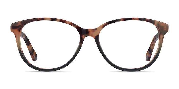 Hepburn Tortoise Green Acetate Eyeglass Frames from EyeBuyDirect