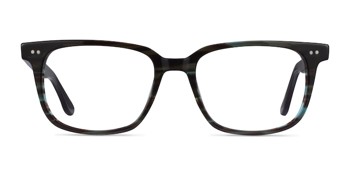 Pacific Striped Blue Acetate Eyeglass Frames from EyeBuyDirect