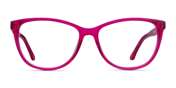 Solitaire Pink Acetate Eyeglass Frames from EyeBuyDirect